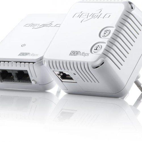 DEVOLO POWERLINE dLAN 500 WiFi STARTER KIT (9089), 1x dLAN 500 WiFi (WIRELESS) ADAPTER & 1x dLAN