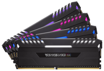 CORSAIR RAM DIMM XMS4 KIT 4x8GB CMR32GX4M4A2666C16, DDR4, 2666MHz, LATENCY 16-18-18-35, 1.20V, VENGEANCE RGB BLACK, XMP 2.0, RGB LED, BLACK, LTW.