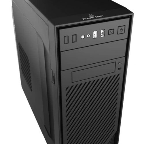 POWERTECH Case, 2xUSB2.0, με PSU 450watt
