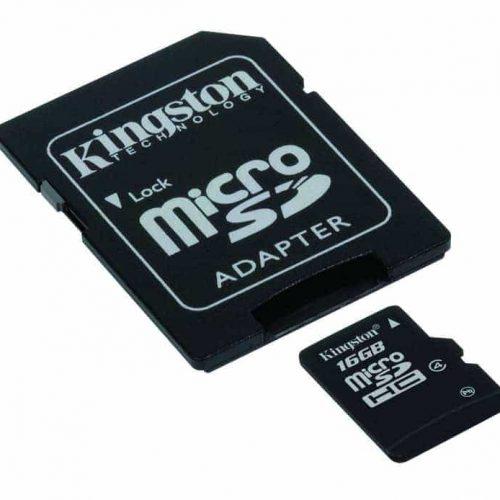 KINGSTON Memory Card MicroSD SDC4/16GB, Class 4, SD Adapter