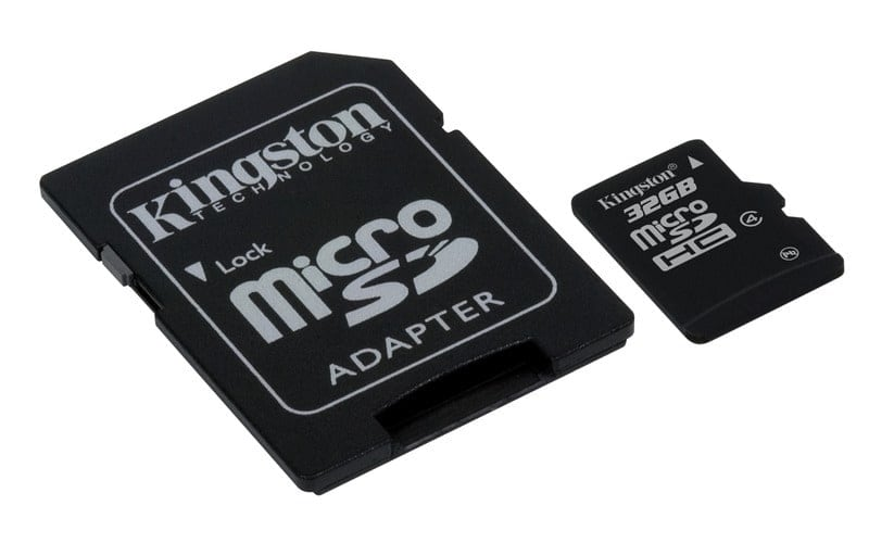 KINGSTON Memory Card MicroSD SDC4/32GB, Class 4, SD Adapter