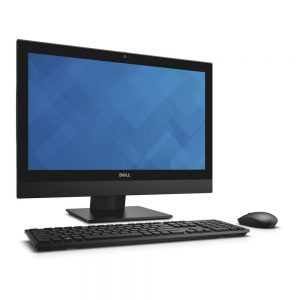 Dell OptiPlex 3240 All-in-One Touch (Codename Cod) desktop computer with fixed stand, with KM636 wireless keyboard and mouse (Codename Persian).