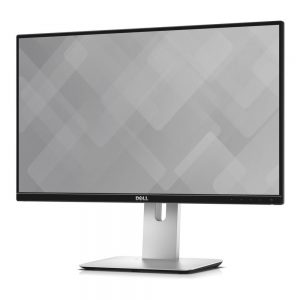 Dell U2417HWI Monitor featuring a left forward facing view.