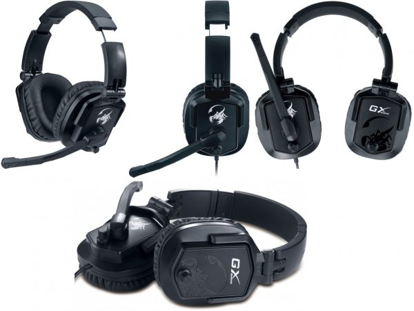 GENIUS HEADSET LYCHAS HS-G550, WITH MICROPHONE, GAMING, BLACK, 2YW. GENIUS HEADSET LYCHAS HS G550 1