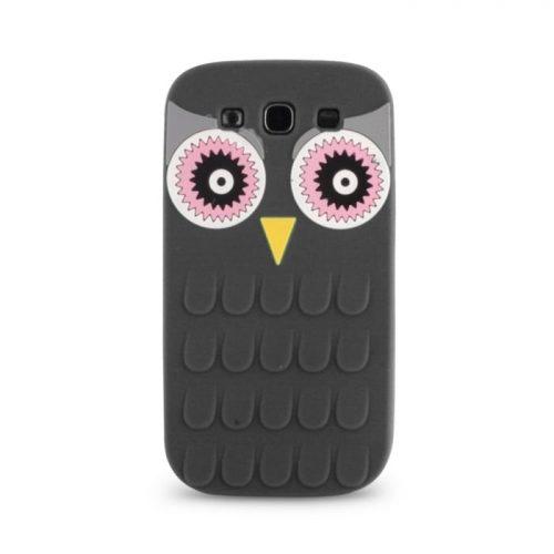 Θήκη Silicon 3D Owl για iPhone 5/5S Black