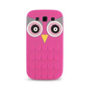 Θήκη Silicon 3D Owl για iPhone 5/5S Pink