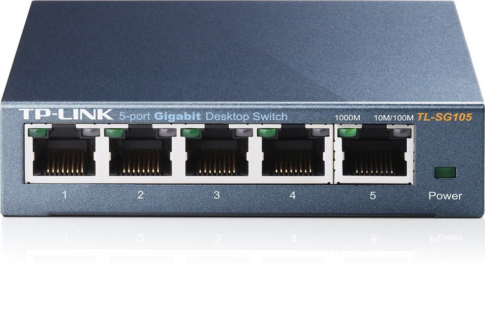 TP-LINK Switch TL-SG105, 5 port, 10/100/1000 Mbps, Steel Case