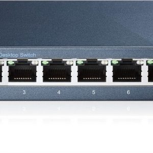 TP-LINK Switch TL-SG108, 8 port, 10/100/1000 Mbps, Steel Case