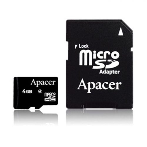 Memory Card Micro SDHC 4GB Apacer Class 4