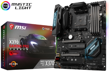 MSI MB X370 GAMING PRO CARBON, SOCKET AMD AM4, CS AMD X370, 4 DIMM SOCKETS DDR4, DVI-D/HDMI, LAN INTEL GAMING i211AT GIGABIT, ATX, GAMING, 3YW.