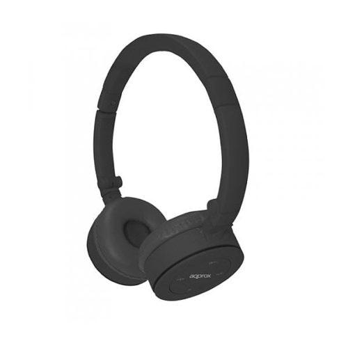 Ακουστικό ασύρματο bluetooth APPHSBT02B μαύρο Approx