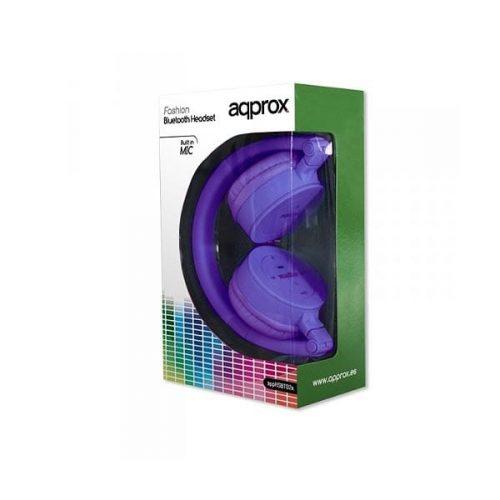 Ακουστικό-ασύρματο-bluetooth-APPHSBT02P-μώβ-Approx-1