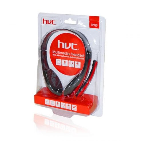 Ακουστικό-με-μικρόφωνο-κόκκινο-TP195-1