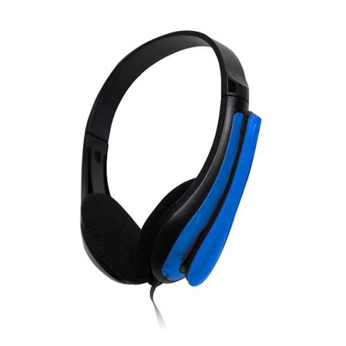 Ακουστικό με μικρόφωνο μπλε TP195