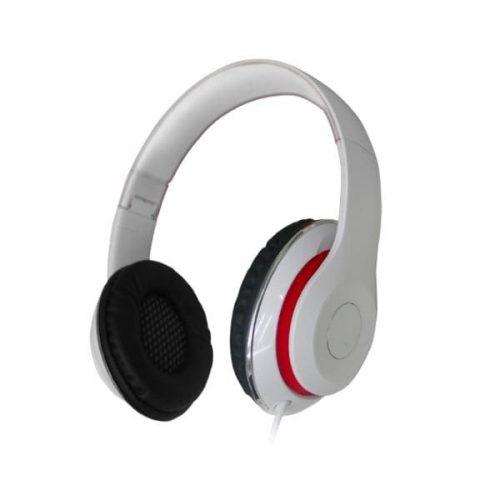 Ακουστικό με μικρόφωνο σπαστό AHP-515 άσπρο/κόκκινο hvt