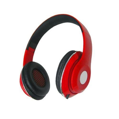 Ακουστικό με μικρόφωνο σπαστό AHP-515 κόκκινο/μαύρο hvt
