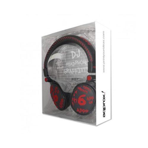 Ακουστικό-APPDJGR-DJ-Graffiti-Approx-Red-1