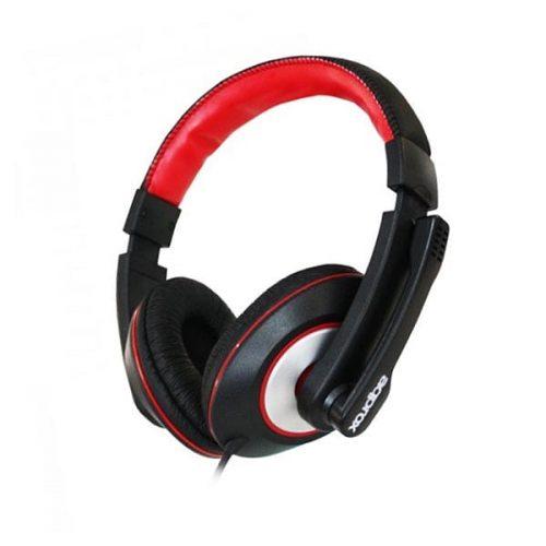 Ακουστικό APPHS04PRO με μικρόφωνο Approx μαύρο - κόκκινο - ασημί