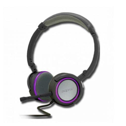 Ακουστικό APPHS05PP με αποσπώμενο μικρόφωνο Approx Purple