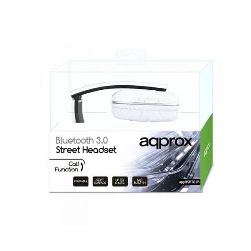 Ακουστικό APPHSBT01W Bluetooth με ενσωματωμένο μικρόφωνο Approx White