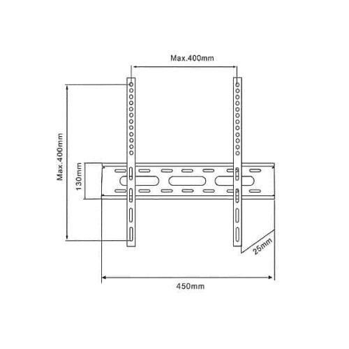 Βάση-LO-13F400-23-47-Μαύρη-TV-Σταθερή-2