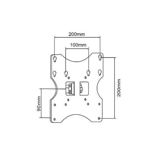 Βάση-LO-D1-3-15-32-Μαύρη-TV-LCD-Σταθερή-2