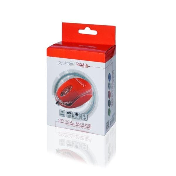 Ενσύρματο Ποντίκι 3D USB κόκκινο XM102R