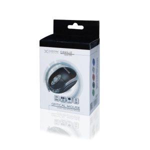 Ενσύρματο Ποντίκι 3D USB μαύρο XM102K