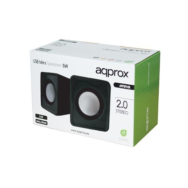Ηχείο 2.0 Ch APPSPX1B ΜΙΝΙ Portable Black Approx