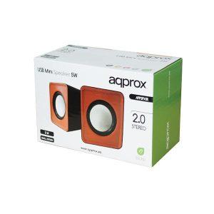 Ηχείο 2.0 Ch APPSPX1R ΜΙΝΙ Portable Red Approx
