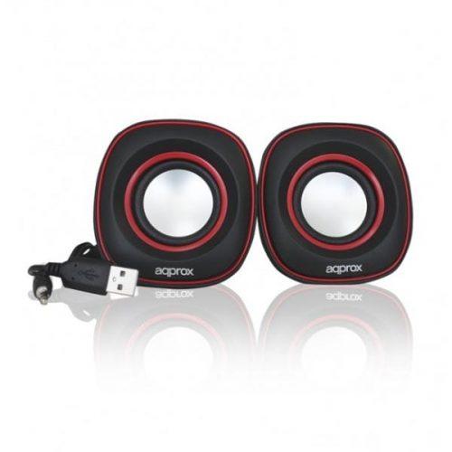 Ηχείο-2.0-Ch-Multimedia-APPSPX2R-Red-Approx-2