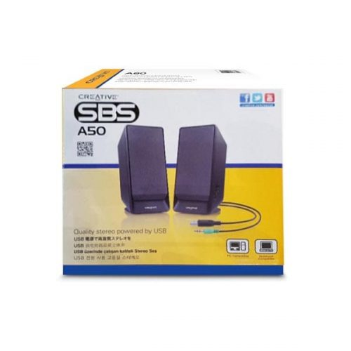 Ηχείο-2.0-USB-Channel-Creative-A50-μαύρο-1