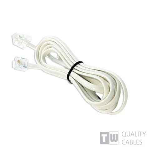 Καλώδιο Σύνδεσης Rj11 6p4c 5M Λευκο