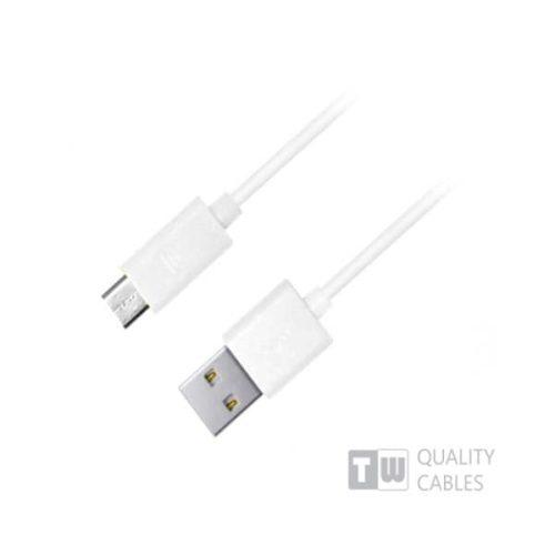 Καλώδιο USB σε Micro USB για smartphone άσπρο 1m