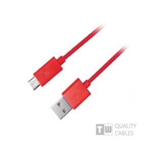 Καλώδιο USB σε Micro USB για smartphone κόκκινο 1m