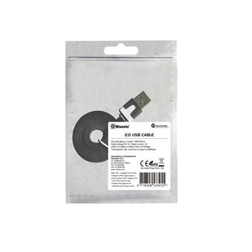 Καλώδιο-USB-σε-Micro-USB-Msonic-για-smartphone-μαύρο-1m-1