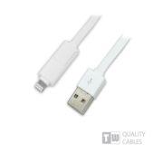 Καλώδιο USB charging & data για iPhone5 & micro USB 1 ΣΕ 2 1m άσπρο