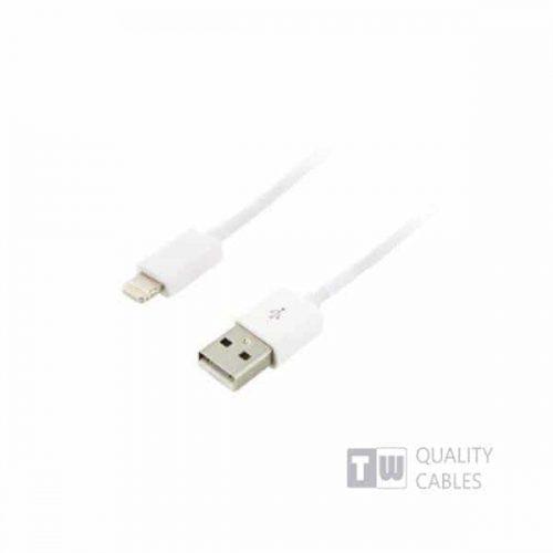 Καλώδιο USB data για iPhone5/iPad 1m άσπρο