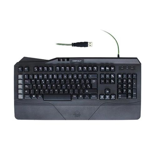 Πληκτρολόγιο-F89CH-8-Gaming-Keys-Usb-Black-KEEP-OUT-1