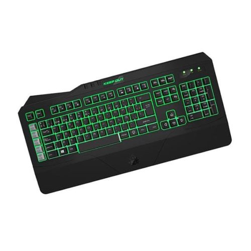 Πληκτρολόγιο F89CH 8 Gaming Keys Usb Black KEEP OUT
