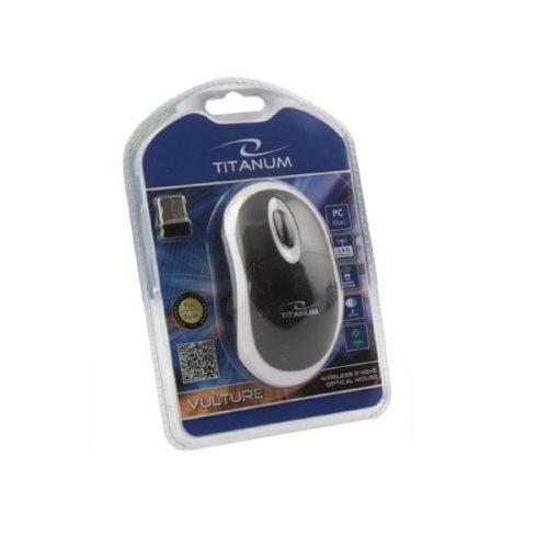 Ποντίκι 2.4Ghz ασύρματο οπτικό άσπρο/μαύρο TM116W