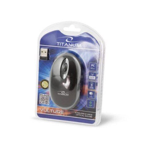 Ποντίκι 2.4Ghz ασύρματο οπτικό γκρι/μαύρο TM116E