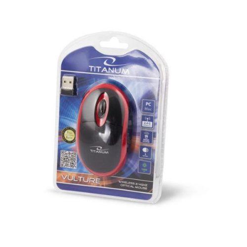 Ποντίκι 2.4Ghz ασύρματο οπτικό μαύρο/κόκκινο TM116R