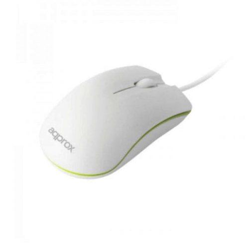 Ποντίκι Approx APPOMNWG Optical άσπρο – πράσινο