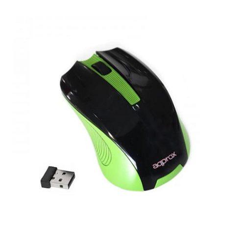 Ποντίκι Approx APPWMEGP 2.4Ghz ασύρματο με USB nano receiver πράσινο