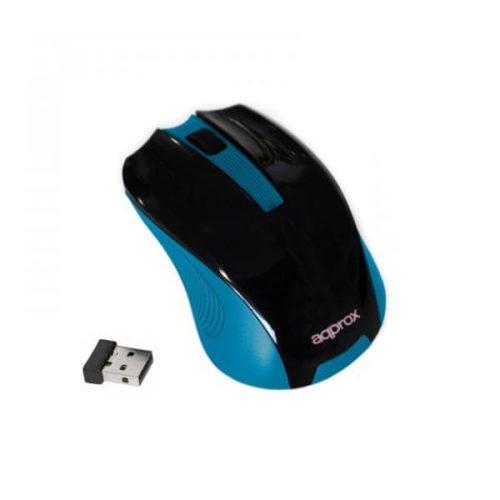 Ποντίκι Approx APPWMELB 2.4Ghz ασύρματο με USB nano receiver black / Light blue