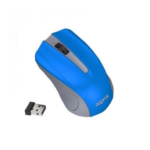 Ποντίκι Approx APPWMLITELBV2 2.4Ghz ασύρματο Light Grey/Light blue