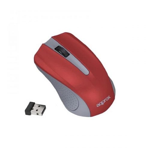 Ποντίκι Approx APPWMLITERV2 2.4Ghz ασύρματο Grey/Light red