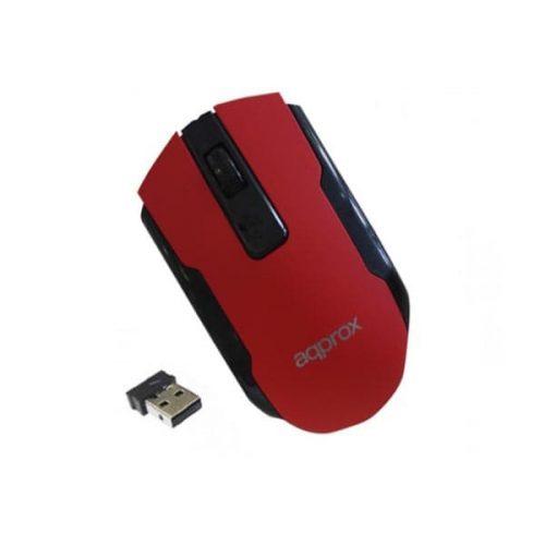Ποντίκι Approx APPWMOFFICER 2.4Ghz ασύρματο με USB nano receiver κόκκινο