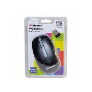 Ποντίκι MX707K 2.4Ghz ασύρματο με USB nano receiver μαύρο Msonic